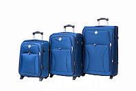 Набор чемоданов на колесах Bonro Tourist Синий 3 штуки