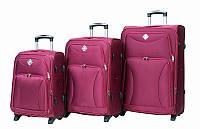 Набор чемоданов на колесах Bonro Tourist Вишневый 3 штуки