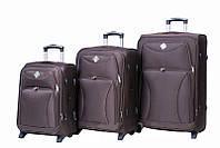 Набор чемоданов на колесах Bonro Tourist Коричневый 3 штуки