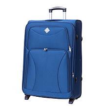 Дорожный чемодан на колесах Bonro Tourist Синий Средний