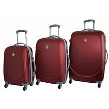 Набор чемоданов на колесах Bonro Smile Бордовый 3 штуки