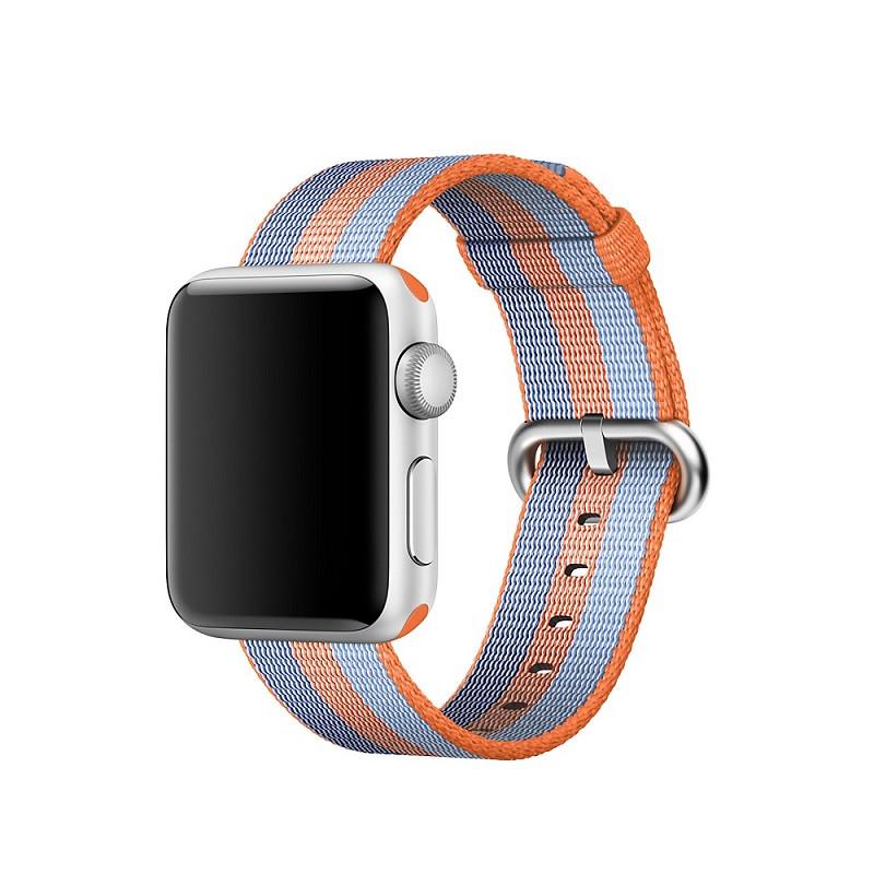 Ремешок для часов Apple Watch 38 мм 40 мм нейлоновый с пряжкой, Blue with orange