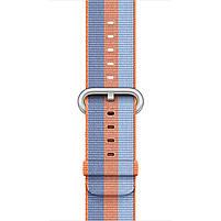 Ремешок для часов Apple Watch 38 мм 40 мм нейлоновый с пряжкой, Blue with orange, фото 3