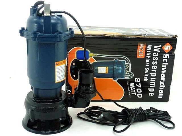 Фекальний Насос дренажний WQD 214 для чистої та брудної води 2700 Вт + шланг 20м