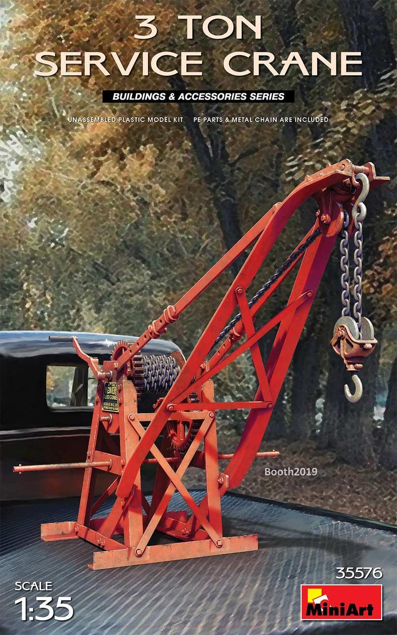 Сборная модель. 3-тонный сервисный кран. 1/35 MINIART 35576