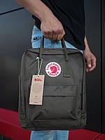 Качественный стильный городской рюкзак среднего размера цвета хаки, ТОП-реплика, фото 1