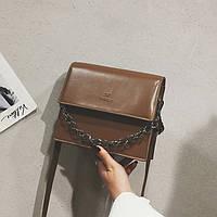 Маленькая женская сумка с цепью Do&thinks рыжая
