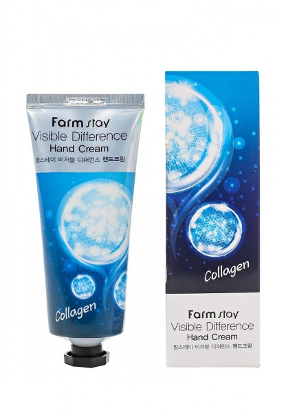 Крем для рук с каллагеном FarmStay Visible Difference Collagen Hand Cream