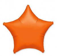 Воздушный шарик фольгированный Звезда янтарная 38582