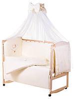Детская постель Qvatro Gold AG-08 аппликация  бежевый (мишка спит на облаке), фото 1