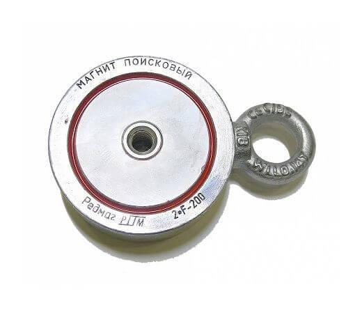 Поисковый магнит 2F200 двухсторонний Редмаг