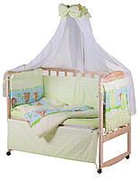 Детская постель Qvatro Lux  RL-08  салатовая (ежик с мишкой,белкой), фото 1