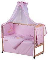 Детская постель Qvatro Ellite AE-08 аппликация  розовый (утята), фото 1