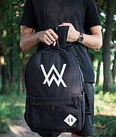 Молодежный рюкзак спортивный вместительный в черном цвете на молнии, фото 1