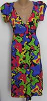 Летнее женское платье с завышенной талией на каждый день 48-50