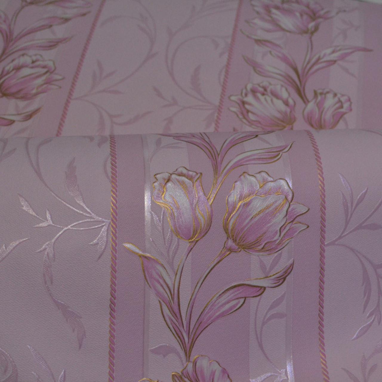 Обои,  обои на стену, дуплексные, розовый, B66,4 Камея 6238-06, 0,53*10м