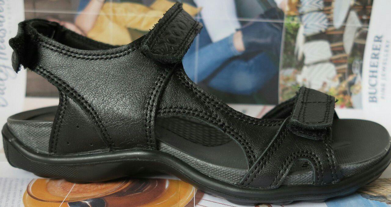 b7a478cb4a85cc Ecco шкіряні сандалі чорні дитячі підліткові босоніжки літо зручне взуття  для літа якісна копія - VZUTA