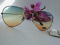 Имиджевые градиентные солнцезащитные очки капельки авиаторы (098), фото 1