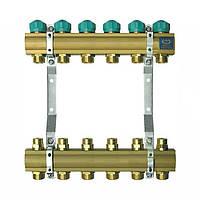 Коллектор для теплого пола KAN на 6 выходов без расходомеров (серия 71A)