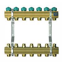 Коллектор для теплого пола KAN на 7 выходов без расходомеров (серия 71A)