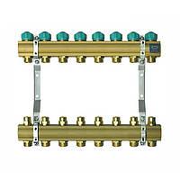 Коллектор для теплого пола KAN на 8 выходов без расходомеров (серия 71A)