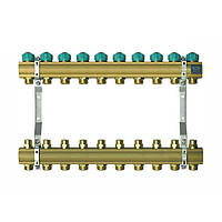Коллектор для теплого пола KAN на 10 выходов без расходомеров (серия 71A)