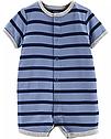 """Песочник Carter's для мальчика """"Лодка море"""" синий в полоску ромпер для малыша картерс, фото 2"""