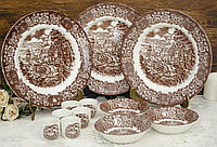 Комплект английской керамики, BRITISH ANCHOR IRONSTONE, Англия, три персоны, Memory Lane, фото 1