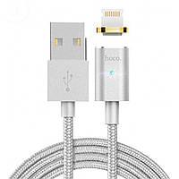 © Кабель магнитный Hoco U16 Lightning Silver Magnetic для смартфона