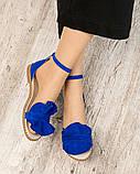 Женские замшевые босоножки - сандалии Hermes (копия), фото 3