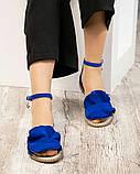 Женские замшевые босоножки - сандалии Hermes (копия), фото 4