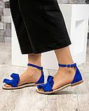 Женские замшевые босоножки - сандалии Hermes (копия), фото 5
