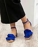 Женские замшевые босоножки - сандалии Hermes (копия), фото 2