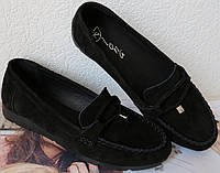 Nona! М'які жіночі мокасини замшеві туфлі весна літо Нона