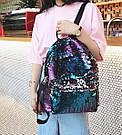 Рюкзак с пайетками меняющий цвет синий Mojoyce (495\4), фото 6