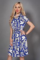 Платье мод 476-7,размер 48-50 молочное