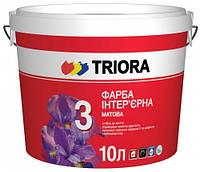 Краска акриловая матовая Триора 3 л
