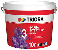 Краска стойкая к мытью интерьерная матовая Триора 10л