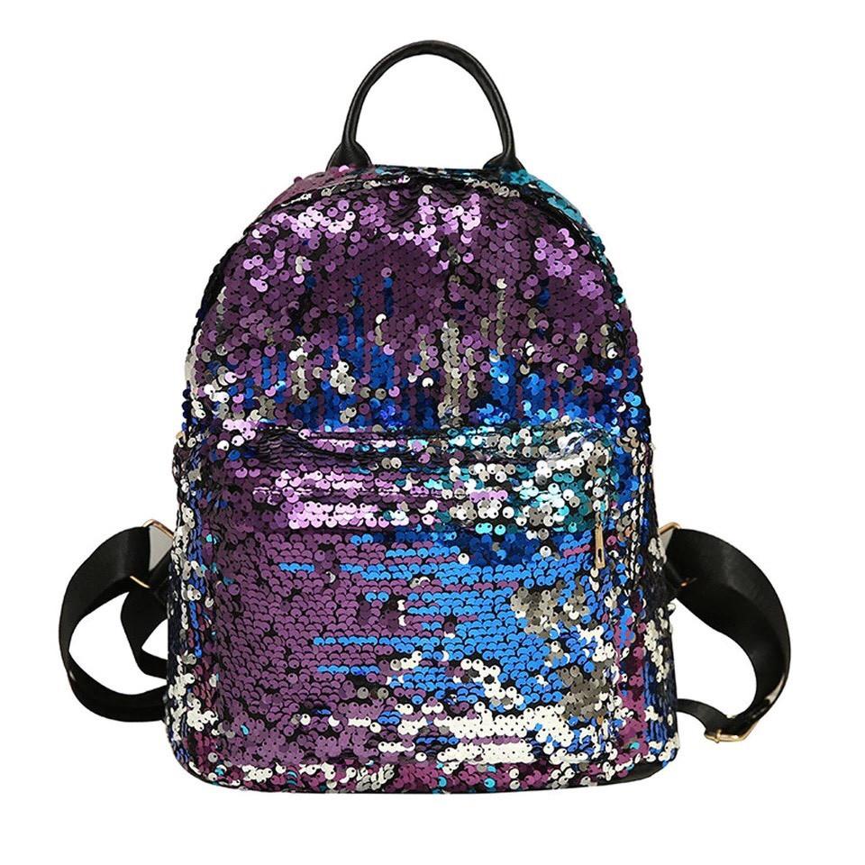 Рюкзак с пайетками меняющий цвет синий Mojoyce (495\4)