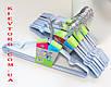 Плечики вешалки металлические в силиконовом покрытии лавандового цвета, 40 см, фото 5
