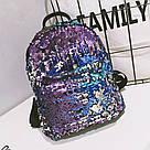 Рюкзак с пайетками меняющий цвет синий Mojoyce (495\4), фото 2