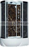 Гидробокс SAN 388R BM (80*120*215) BLACK MARMUR поддон 26/40см сатин/серое