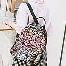 Рюкзак с пайетками меняющий цвет золотой Mojoyce (495\4), фото 8