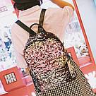 Рюкзак с пайетками меняющий цвет золотой Mojoyce (495\4), фото 9