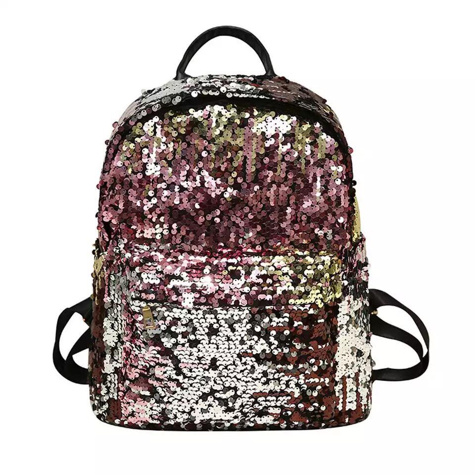 Рюкзак с пайетками меняющий цвет золотой Mojoyce (495\4)