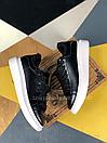 Женские Кроссовки Alexander MCqueen Black White Leather (Мех), фото 2