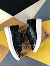 Жіночі Кросівки Alexander MCqueen Black White Leather (Хутро), фото 2