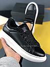 Женские Кроссовки Alexander MCqueen Black White Leather (Мех), фото 4