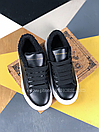 Женские Кроссовки Alexander MCqueen Black White Leather (Мех), фото 6