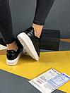 Жіночі Кросівки Alexander MCqueen Black White Leather (Хутро), фото 7